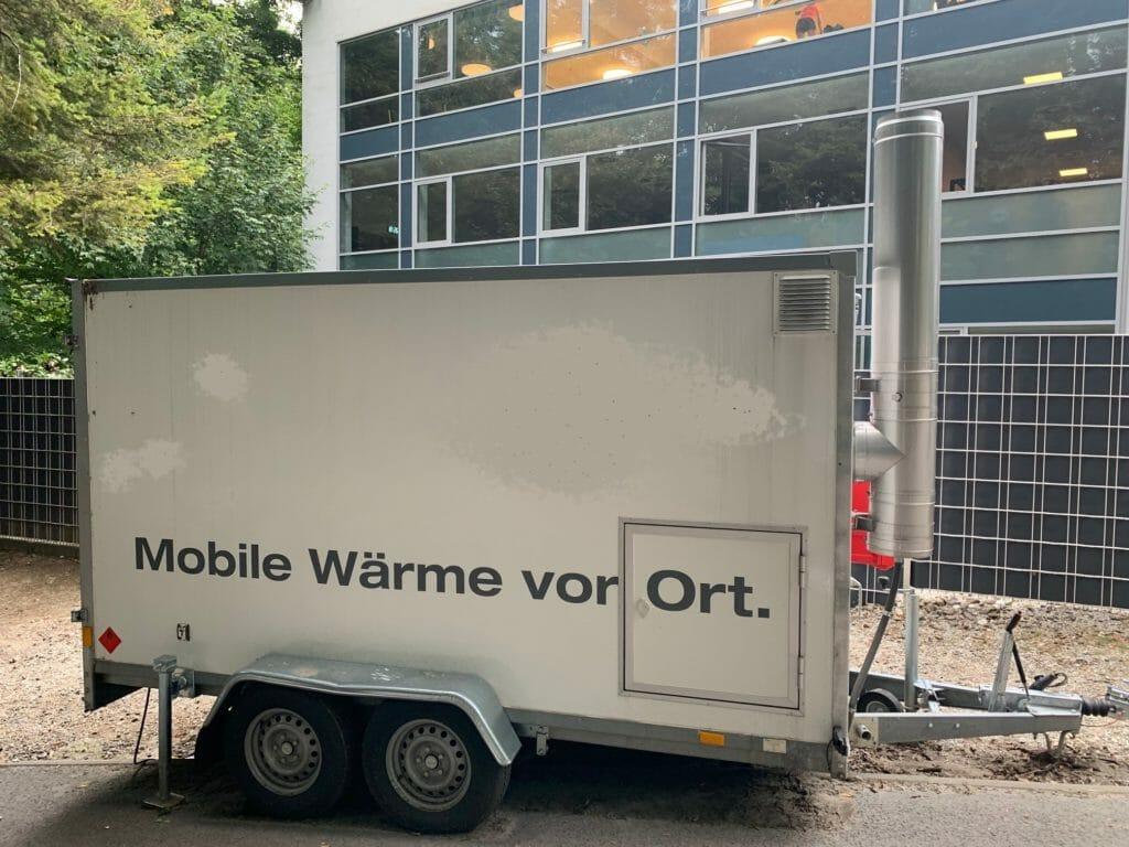 Mobile Heizung zum mieten im Einsatz